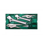 Инструм. Лоток (набор) Ключи Разводные+Щипцы.  5пр.