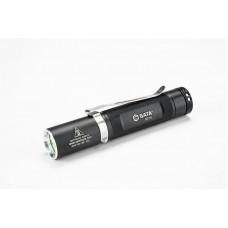 Фонарь светодиодный Aluminum (чёрный) LED CREE, д/л 100м., портативный.