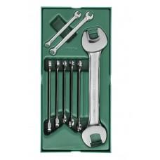 Инструм. Лоток (набор) Ключи Комбинир.+Рожков. 10пр. (Metric)
